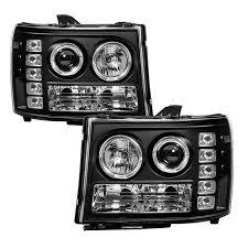 jeep commander black headlights spyder black halo projector led headlights 2007 2014 gmc