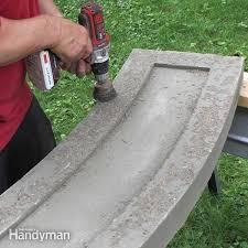 stone inlay concrete bench family handyman