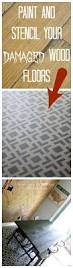 146 Best Inspiring Flooring Projects Remodelaholic High Style Low Cost Painted And Stenciled Floor