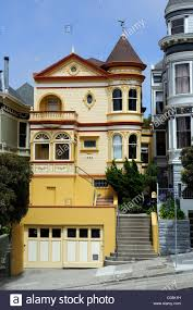 victorian style house in san francisco california usa north