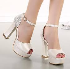 wedding shoes thick heel glitter sequins ivory wedding shoes thick high heel platform white