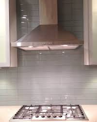 gray glass subway tile in fog bank modwalls lush modern kitchen