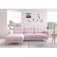 canapé d canapé d angle 4 places scandinave poudré salon mobilier gifi