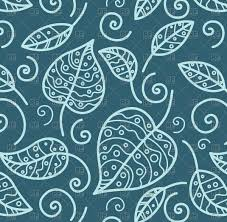 modern floral wallpaper blue seamless floral wallpaper with outline of leaves vector