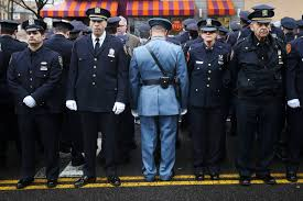 nypd funeral de blasio officers turn back on mayor