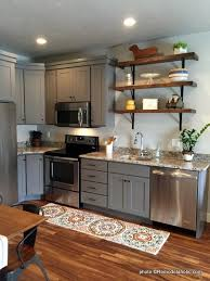 grey kitchen cabinets wood floor remodelaholic 40 beautiful kitchens with gray kitchen cabinets