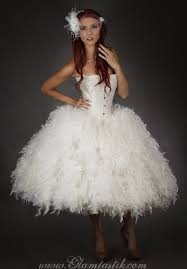 burlesque wedding dresses custom size ivory steunk burlesque corset feather and tulle