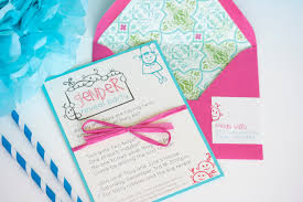 Invitation Cards Design With Ribbons Remarkable Gender Reveal Party Invitation Card Design With Pink