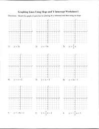 graphing equations in slope intercept form worksheet free
