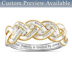 Personalized Engraved Rings Of Family Personalized Diamond Ring With Engraved Names