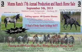 munns ranch 18th annual production and ranch horse sale
