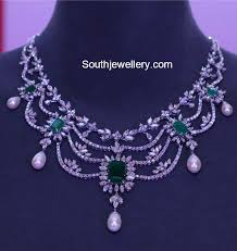 diamond necklace collection images Latest diamond necklace collection by tanishq jewellery designs jpg