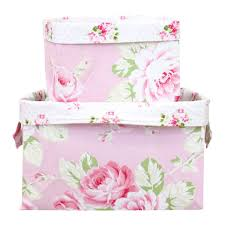 Fabric Shabby Chic by Shabby Chic Rose Fabric Storage Bins Caden Lane