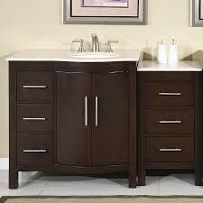 54 Bathroom Vanity Cabinet Silkroad Exclusive Stone Counter Top Bathroom Single Sink Cabinet
