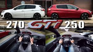 peugeot 308 gti peugeot 308 gti 250 vs 270 pov autobahn acceleration u0026 top speed
