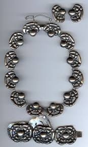 silver bracelet with stones images Vintage mexican silver jewelry jpg