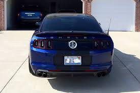 Blue Mustang Black Stripes 2013 Gt500 Deep Impact Blue Black Stripes Tinted