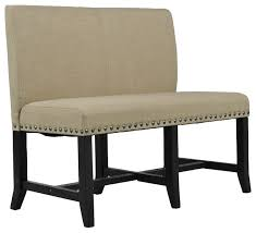 Modern Dining Bench With Back Bench The Most Incredible Upholstered Dining With Back Regard To