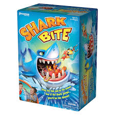 amazon com pressman toys shark bite game 2 4 players toys u0026 games