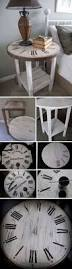 diy clock end table easy to make create your own rustic