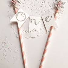 one cake topper birthday cake topper winter onderland