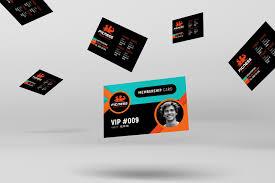 Fitness Business Card Template Gym Fitness Membership Card Template Brandpacks