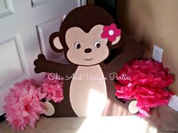 photo monkey baby shower decorations and image