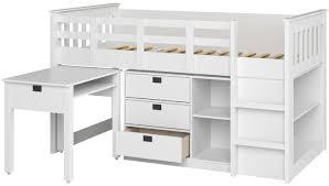 viv rae deion twin low loft bed with storage u0026 reviews wayfair