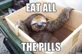 Dirty Sloth Meme - rape sloth eat all the pills weknowmemes