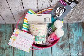 Ice Cream Gift Basket Teacher Appreciation U201chere U0027s The Scoop U201d Free Printable