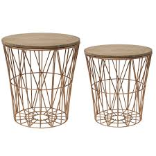end table set of 2 metal basket shaped end table set of 2 antique farmhouse