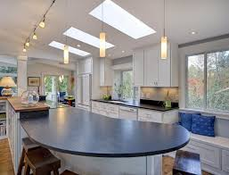 small kitchen lighting ideas pictures skylight lighting ideas sleek contemporary kitchen design with a