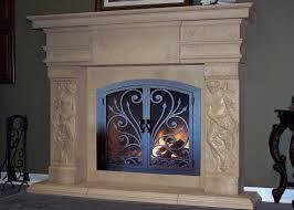 home decor creative wrought iron fireplace doors decorate ideas