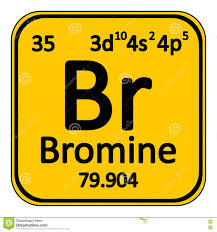 Bromine On The Periodic Table Periodic Table Element Bromine Icon Stock Illustration Image