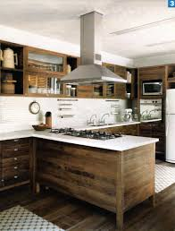 stainless steel and wood kitchen home design ideas