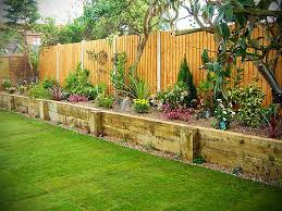 Raised Planter Beds by Built In Planter Ideas Railway Sleepers Raised Bed And Raising