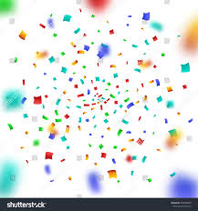 colorful confetti on background christmas stock vector