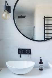 40 inch round black mirror vanity decoration