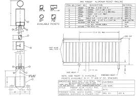 Handrail Construction Detail Cad Details American Railing Systems Inc