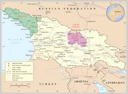 Map Of Eastern European Countries Map Of Georgia Highlighting Abkhazia Green And South Ossetia