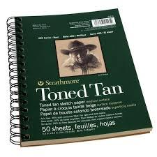 strathmore 400 series toned tan sketch pad