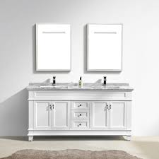 Vanity With Carrera Marble Top Moreno Fayer 72