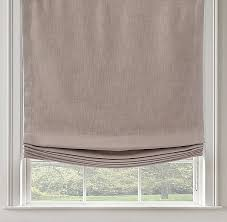restoration hardware l shades textured linen solid relaxed roman shade