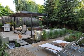 Backyard Feature Wall Ideas Exterior Design Backyard Pond Pictures With Outdoor Chaise Lounge