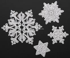 brand new metal snowflake christmas cutting dies stencils for diy