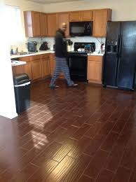 Traditional Dark Wood Kitchen Cabinets Flooring Interceramic Tile For Inspiring Interior Tile Floor