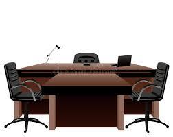 bureau directeur director s office stock vector illustration of notebook 24565264