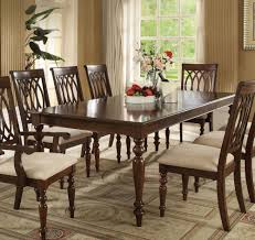 acme dining room furniture walnut wood extendable dining table by acme