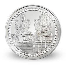 silver coins inscribed w ganesh lakshmi 5 gms wedding