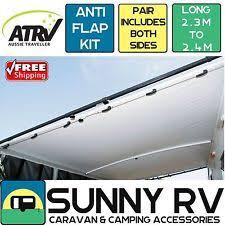 Aussie Traveller Awning Caravan Awning Anti Flap Bars Ebay